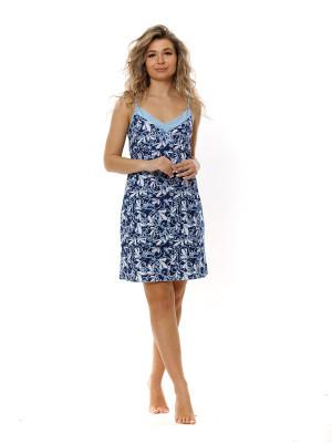 Жен. сорочка арт. 16-0711 Синий р. 52 НСД Трикотаж